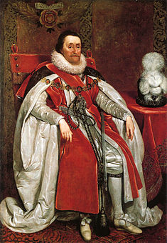 James I of England, who commissioned the Bible named after him.