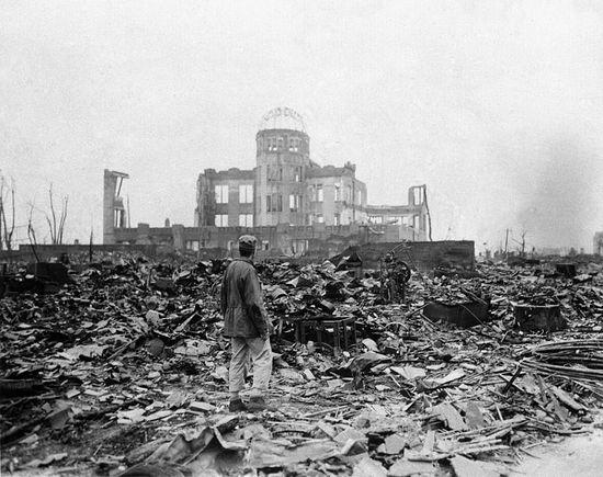 Хиросима после взрыва атомной бомбы