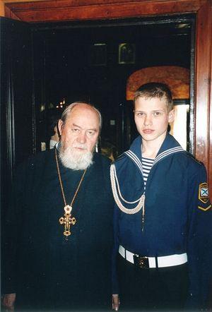 Протоиерей Василий Ермаков и Игорь Багрянцев
