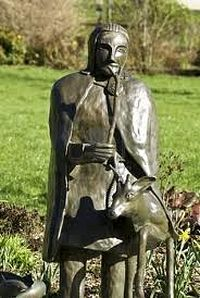 A sculpture of St. Neot