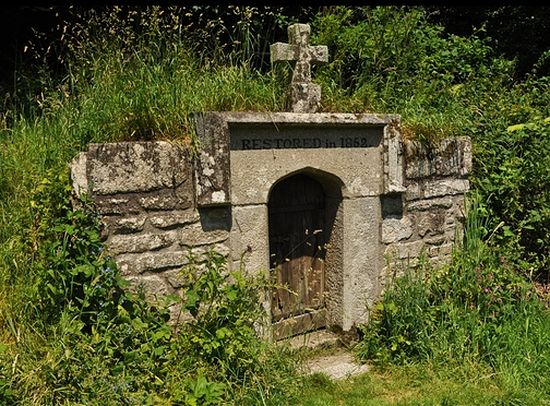 Holy well of St. Neot in St Neot village, Cornwall