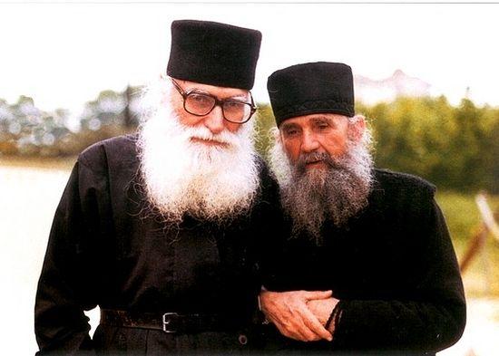Афонские старцы Ефрем Катунакский и Ефрем Филофейский