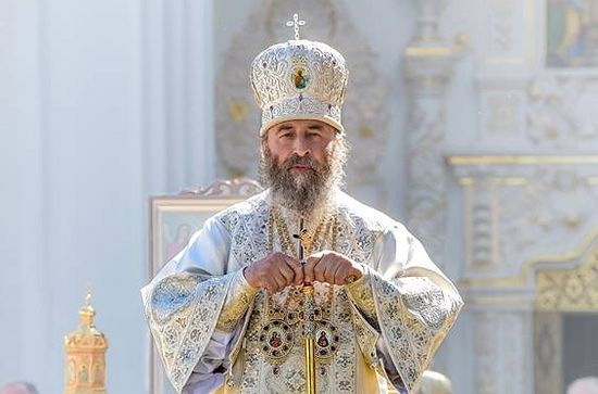 The head of the Ukrainian Orthodox Church Metropolitan Onuphry