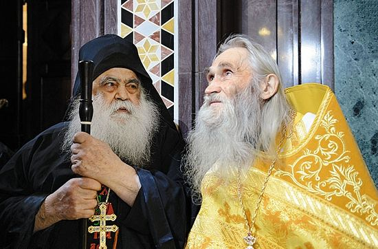 Архимандрит Парфений (Мурелатос) и схиархимандрит Илий (Ноздрев)