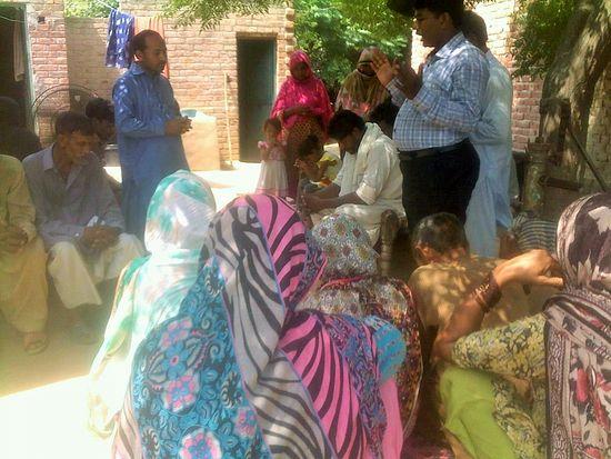 Pakistani Christian flood victims