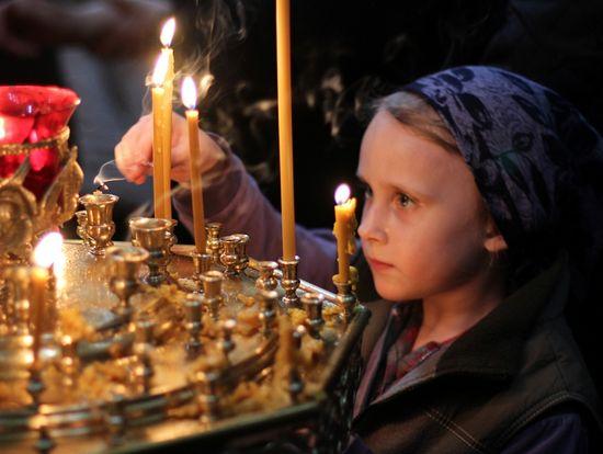 Детская молитва. Фото: www.orthphoto.net