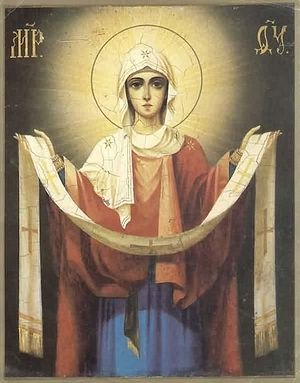 The Theotokos, who intercedes for all men