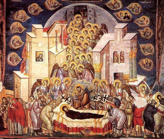 Успение Пресвятой Богородицы. Фреска
