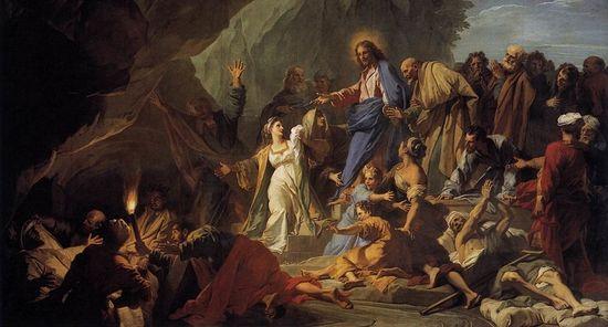 Жувене Жан. Воскрешение Лазаря, 1706.