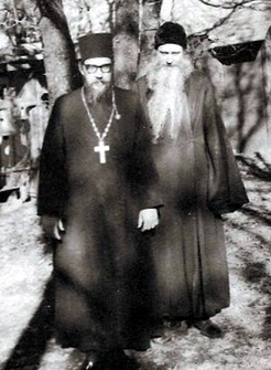 Fr. Seraphim with Fr. Herman, his monastic co-laborer
