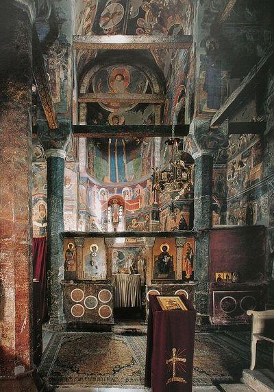 Serbian church interior