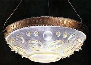 Byzantine lamp, gold and rock crystal, 11th century.