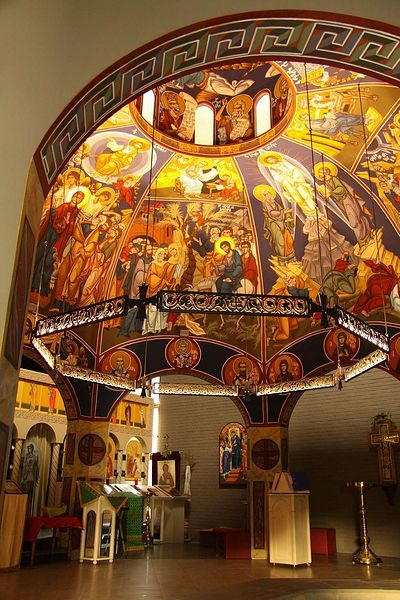 Choros by the author, in St Amandus church, Belgium. 32. Detail showing the concealed LED strip lighting.