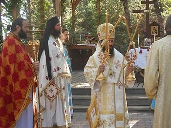 Met. Saba serving the Divine Liturgy