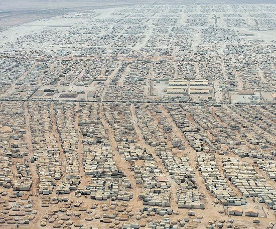 A camp for Syrian refugees in Jordan