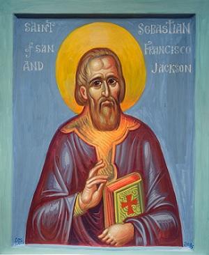 Fr. Stamatis' icon of St. Sebastian