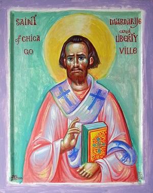 Fr. Stamatis' icon of St. Mardarije