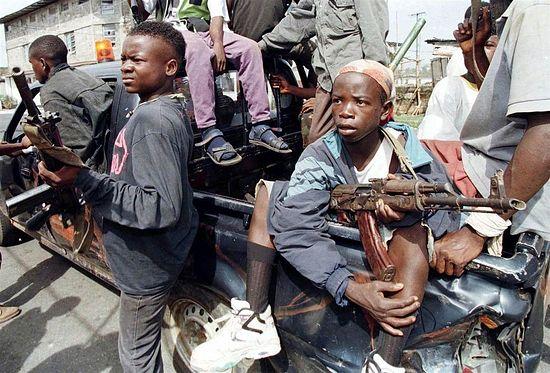 Дети-воины в Либерии