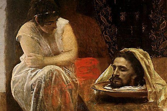 Крамской. Иродиада. 1886 г. Фрагмент