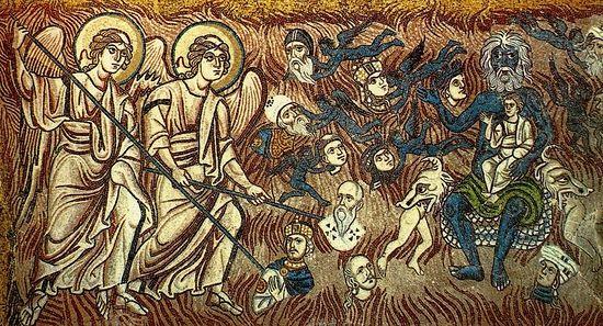 Страшный суд. Мозаика собора в Торчелло, Италия, XII в