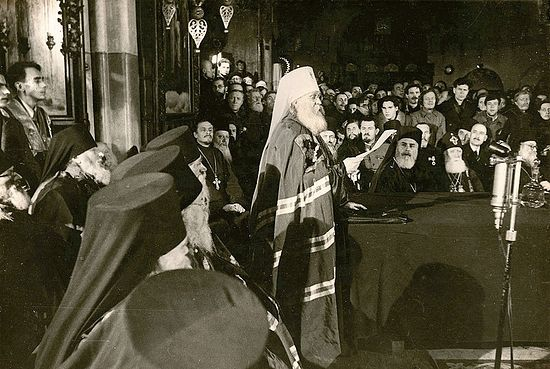 Выступление митрополита Северо-Американского и Алеутского Вениамина (Федченкова) на Поместном Соборе 1945 г.