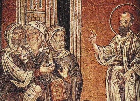 Апостол Павел проповедует в синагоге