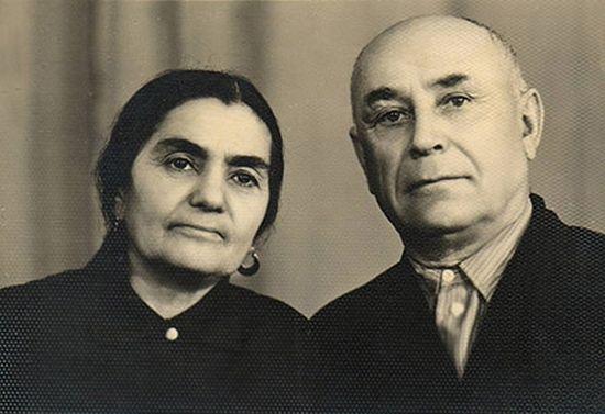 Сурия и Ушана Кисановы. Прабабушка и прадедушка о. Владимира