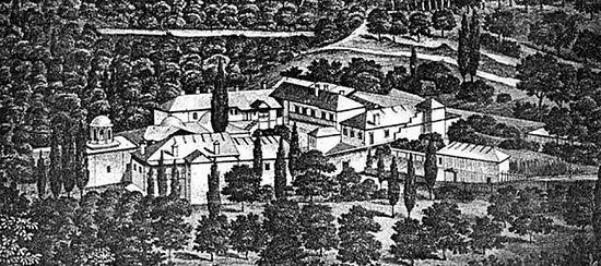 213. Cкит Ксилургу. Графическое изображение (ок.1870). Автор неизвестен.