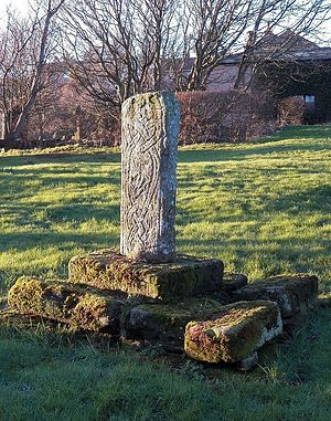 A 10th-century cross at the St. Bees Priory's churchyard