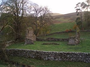 Ruins of the Kilbucho church in Scotland