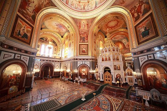The interior of the Cathedral of Christ the Saviour as it looks today