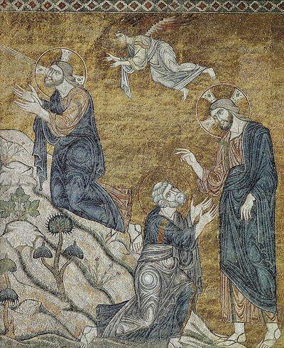 Agony in the Garden, a fragment of a fresco. Visoki Dečani (High Dečani), Serbia, Kosovo. XIV century.