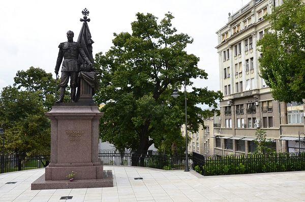 Памятник императору и страстотерпцу Николаю II в Белграде. Фото: иером.Игнатий (Шестаков)