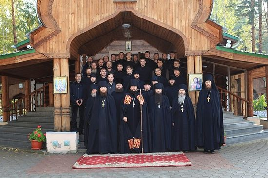The monastery brethren.