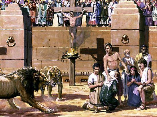 Христиане на сцене Колизея
