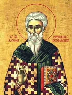 St. Sophronius of Jerusalem