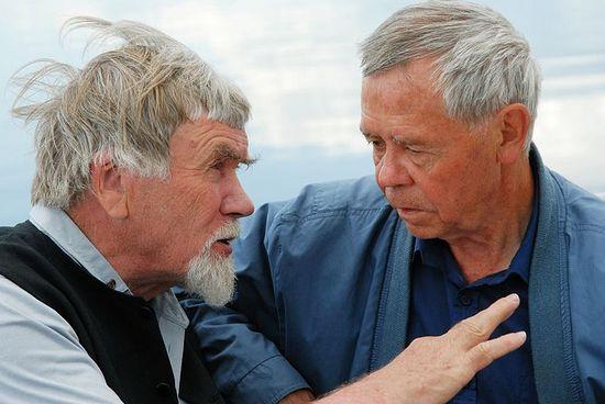 Писатели Валентин Курбатов и Валентин Распутин