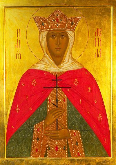 Икона святой мученицы Людмилы, хранящаяся в храме свт. Николая в Котельниках