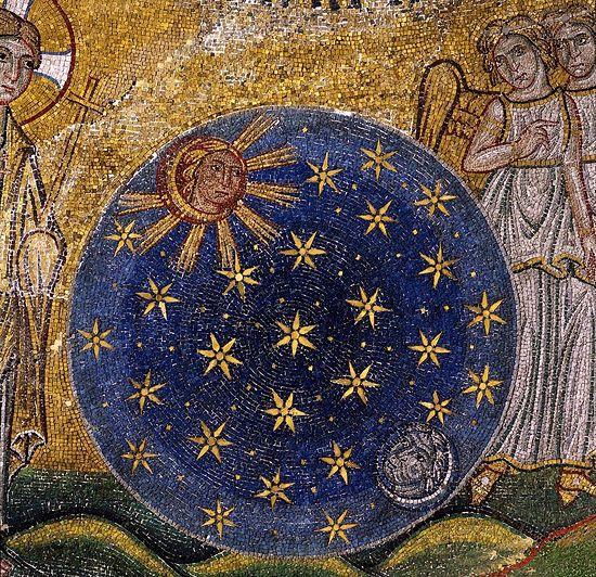 Создание светил. (Сотворение мира, фрагмент). Италия, Венеция, Собор Святого Марка; XIII в