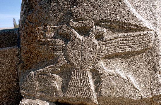Хеттский двуглавый орел, XIII в. до Р.Х.