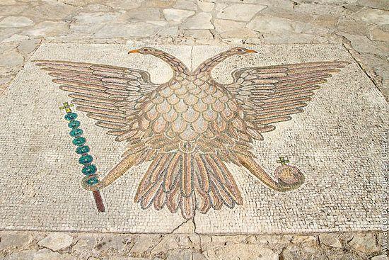 Напольная мозаика. Кипр. Монастырь св. Неофита
