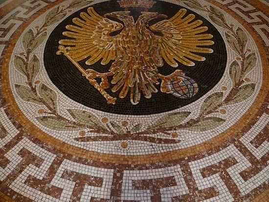 Напольная мозаика. Ведикобритания. Лондон. Греческий храм св. Софии