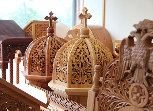 The firm specializes in Greek Orthodox church work.