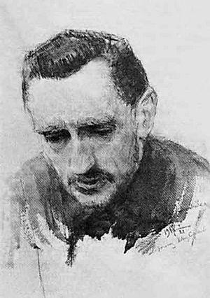 И.С.Шмелев. Рисунок Калинченко. 1917. На портрете надпись: «Дорогому Ивану Сергеевичу. 21.1.1918»
