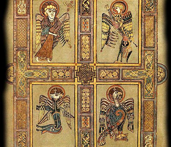 VII век. Четыре Евангелиста. Келлское Евангелие. Дублин, Тритини-колледж