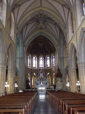 Central aisle of the Cathedral of Sts. Columba and Adomnan in Letterkenny, Donegal