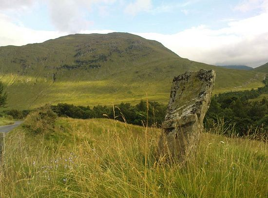St. Adomnan's cross in Glen Lyon, Perth and Kinross