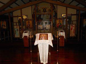 The seminary chapel of St. Nicholai of Zhicha