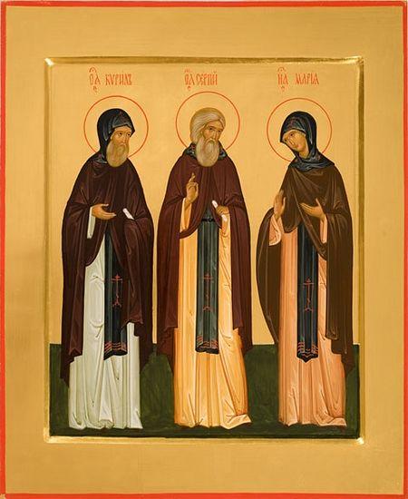 Преподобные Кирилл, Сергий и Мария Радонежские