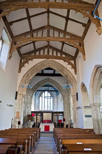 Interior of the Church of Sts. Mary and Melor in Amesbury, Wiltshire